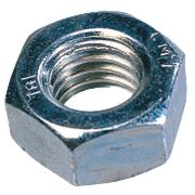 Easyfix Hex Nuts BZP Steel M10 100 Pack