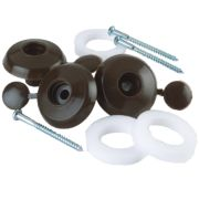 Corotherm Fixing Buttons Brown 16 mm Pack of 10