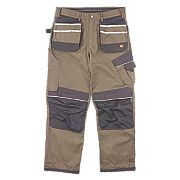 "Hyena Snowdon Work Trousers Brown/Grey 36"" W 32/34"" L"