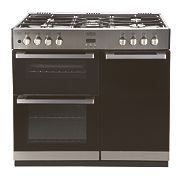 Belling DB4 90DFT Stainless Steel Dual Fuel Range Gas Cooker 900mm