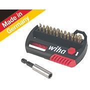 Wiha Hot Torsion Pozi Bit & Holder Set 13 Pieces