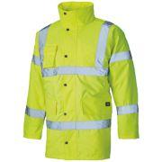Dickies Hi-Vis Motorway Safety Jacket Saturn Yellow Small 38