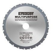 Erbauer Multipurpose Saw Blade 24-Tooth 190mm