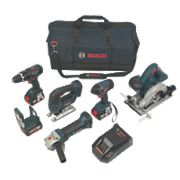 Bosch BAG+6DS 18V 4.0Ah Li-Ion 6 Piece Cordless Power Tool Kit