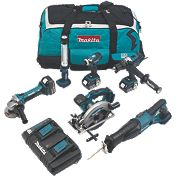 Makita DLX6000PM 18V 4.0Ah LI-Ion 6 Piece Cordless Power Tool Kit