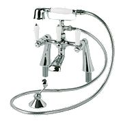 Swirl Period Lever Bath/Shower Mixer Tap Chrome