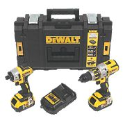 DeWalt DCK255P2 18V 5.0Ah Cordless Twin Pack XR Brushless