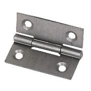 Steel Fixed Pin Hinges Self-Colour 40 x 33mm Pack of 20