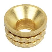 Screws Cups 6ga Solid Brass Pack of 100