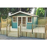 Shire Caledonian Log Cabin 4.1 x 4.1m