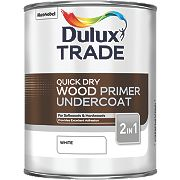 Dulux Trade Trade Quick-Drying Wood Primer Undercoat White 1Ltr
