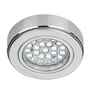 Sensio Orca Round LED Cabinet Light Chrome Cool White