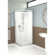 Mira Flight ACE Square Shower Enclosure Sliding Glass Doors Silver 800mm
