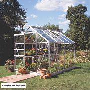 Halls Popular Greenhouse Aluminium Toughened Glass 6 x 8