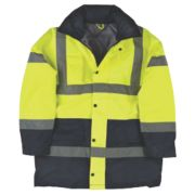 Hi-Vis Padded 2-Tone Coat Yellow/Black X Large 47