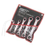 Forge Steel Ratchet Spanner Set 5Pcs