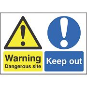 """Dangerous Site / Keep Out"" Sign 420 x 594mm"