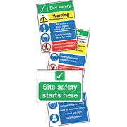 """Site Safety"" Signs Start Up Pack x mm"