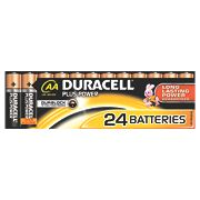 Duracell Alkaline AA Batteries Pack of 24