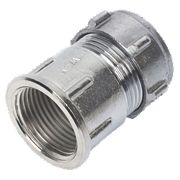Conex Chrome Compression Female Connector 22mm x ¾""