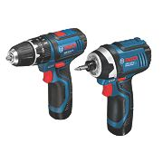Bosch DSGSBGDR18LI 10.8V 2Ah Li-Ion Twin Pack Combi Drill & Impact Driver