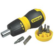 Stanley Multibit Stubby Screwdriver Ratcheting Set 7Pcs