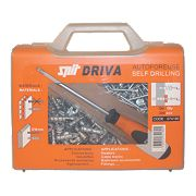 Spit Driva TP12 Self-Drill Plasterboard Fixing Case & Screwdriver 8 x 35mm Pk200