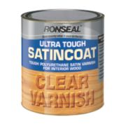 Ronseal Ultra Tough Satin Coat Varnish Satin Clear 2.5Ltr