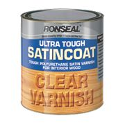 Ronseal Ultra Tough Satin Coat Varnish Satin Clear 2.5Ltr