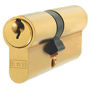 Eurospec Keyed Alike Euro Cylinder Lock 45-50 (95mm) Polished Brass