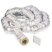 Manrose Aluminium Insulated Ducting Hose Silver 10m x 127mm