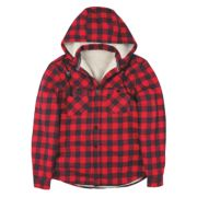 Site Cedar Borg-Lined Hoodie Red Check Large 42-44