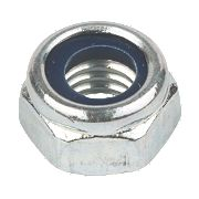 Nylon Lock Nuts BZP Steel M20 Pack of 25