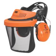 3M Peltor G500 Forestry Combination with Ear Defenders & Visor Black/Orange