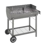 Landmann Grill Chef Oil Drum Charcoal Barbecue Grey 94 x 48 x 98cm