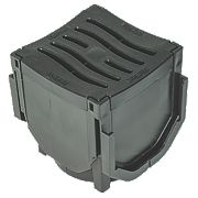 FloPlast FloDrain Corner Unit Black 110mm x 110mm