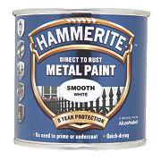Hammerite Smooth Metal Paint White 250ml