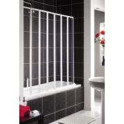 Aqualux Folding Bath Screen White/Clear 1430 x 1400mm