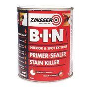 Zinsser B-I-N Shellac-Based Primer White 1Ltr