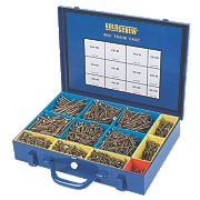Goldscrew Wood Screws Midi Trade Case Pack Double Countersunk Pack of 2000