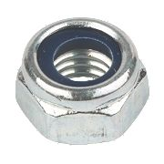 Nylon Lock Nuts BZP Steel M6 Pack of 100