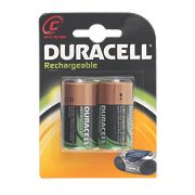 Duracell 81418224 C Rechargeable Batteries Pack of 2