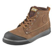 JCB 4CX Safety Trainer Boots Brown Size 8