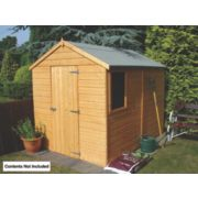 Shire 8' x 6' (Nominal) Apex Shiplap Single Door Shed