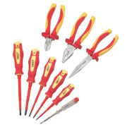 Forge Steel VDE Pliers & Screwdrivers Set 9 Pieces
