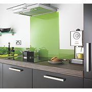 Lime Self-Adhesive Glass Upstand 140 x 1000 x 6mm
