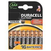 Duracell Alkaline AAA Batteries Pack of 16