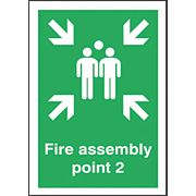 """Fire Assembly Point 2"" Sign 420 x 297mm"