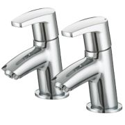 Bristan Orta Bath Pillar Bathroom Taps Pair
