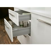 Hafele Moovit Drawer Sides Silver Grey 400mm